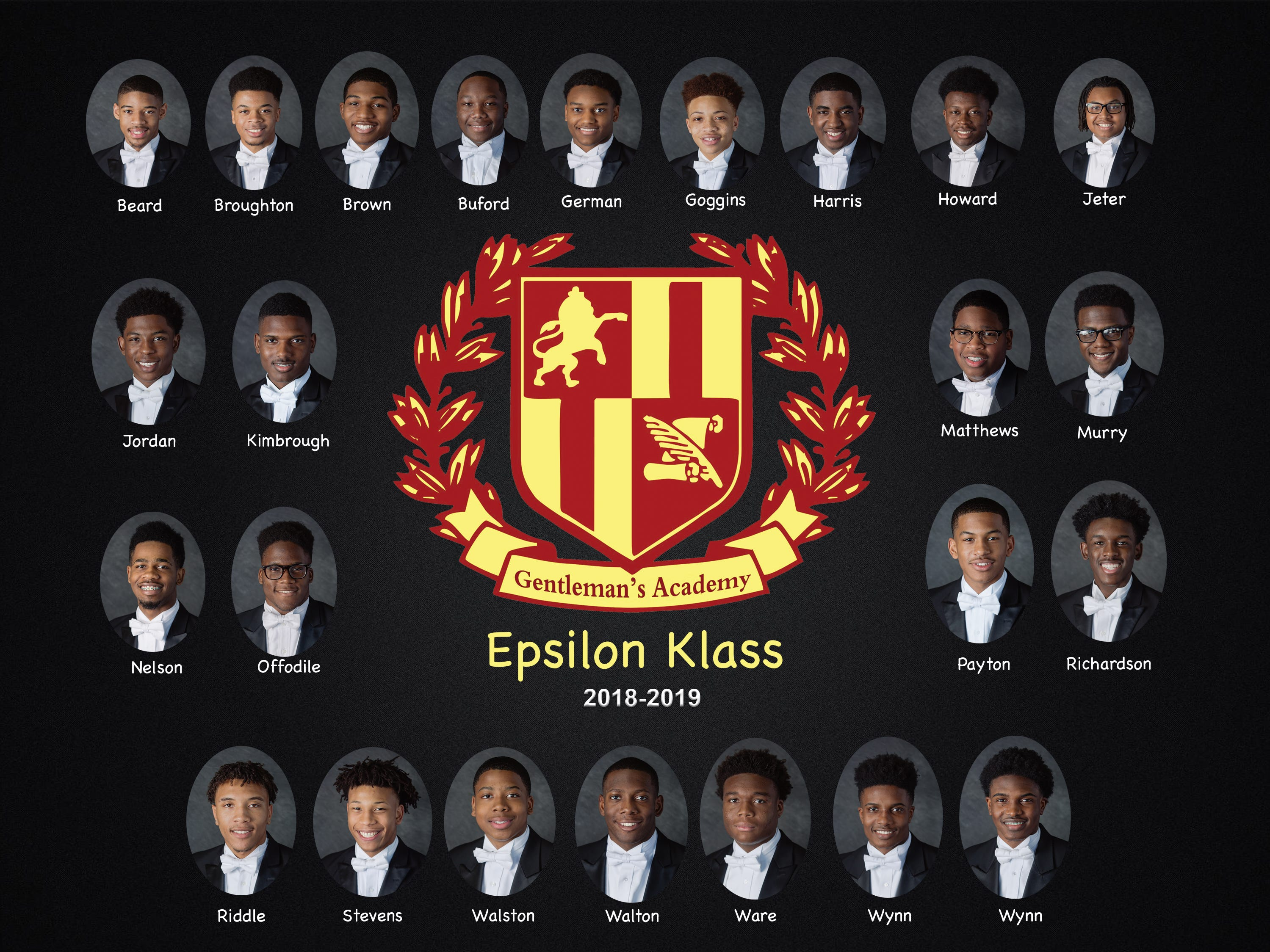 The 2018-19 Gentleman's Academy sponsored by the Murfreesboro Alumni Chapter of Kappa Alpha Psi Fraternity Inc.