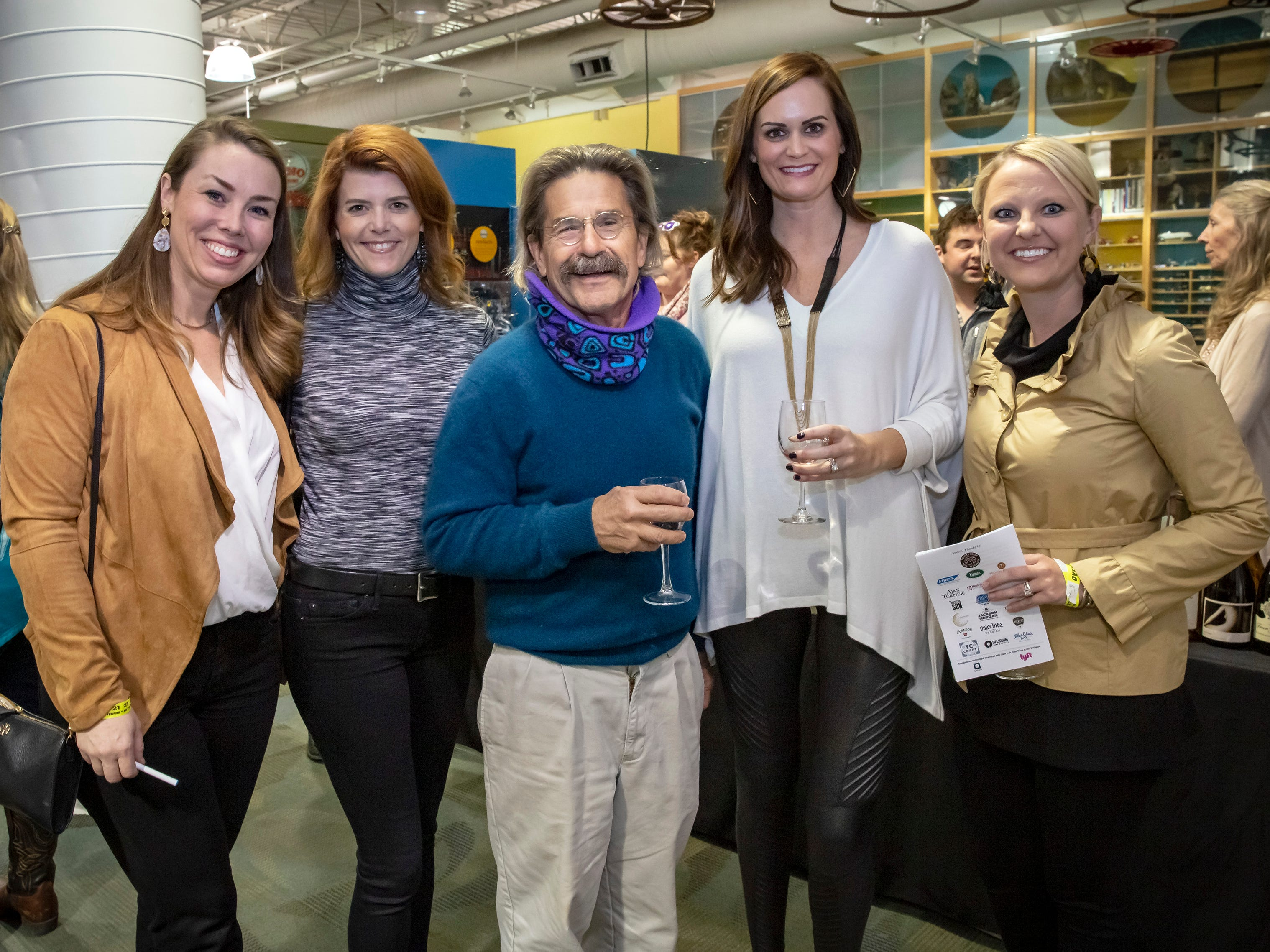Gina DeJean, Lindsey Fournier, Dr. Joe Little, Kristen Taylor and Katherine Layman at the 6th annual Wine and Whiskey at the Wetlands event held at the Discovery Center.