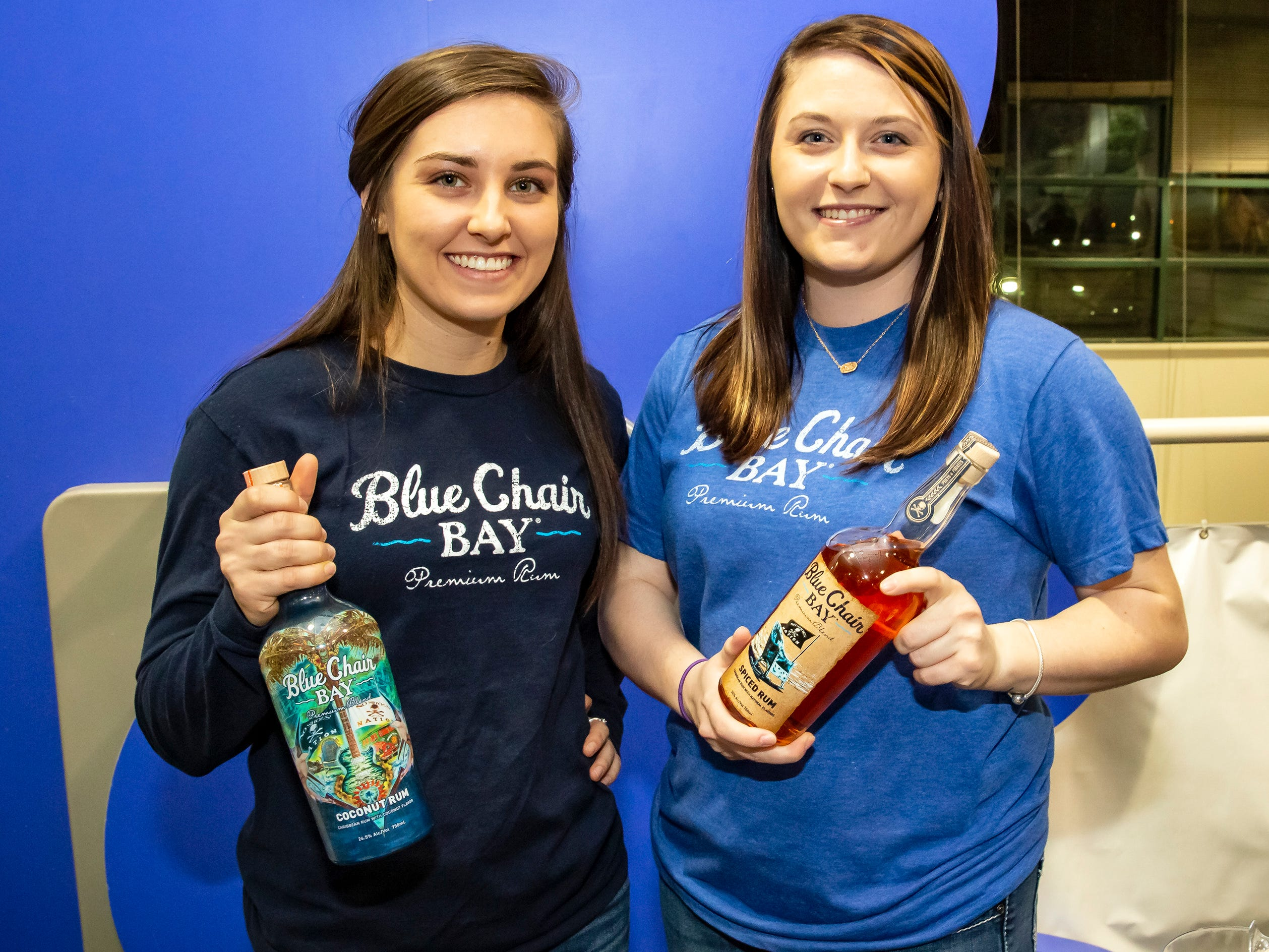 Brittany Harrub and Kelsey Logan at the 6th annual Wine and Whiskey at the Wetlands event held at the Discovery Center.