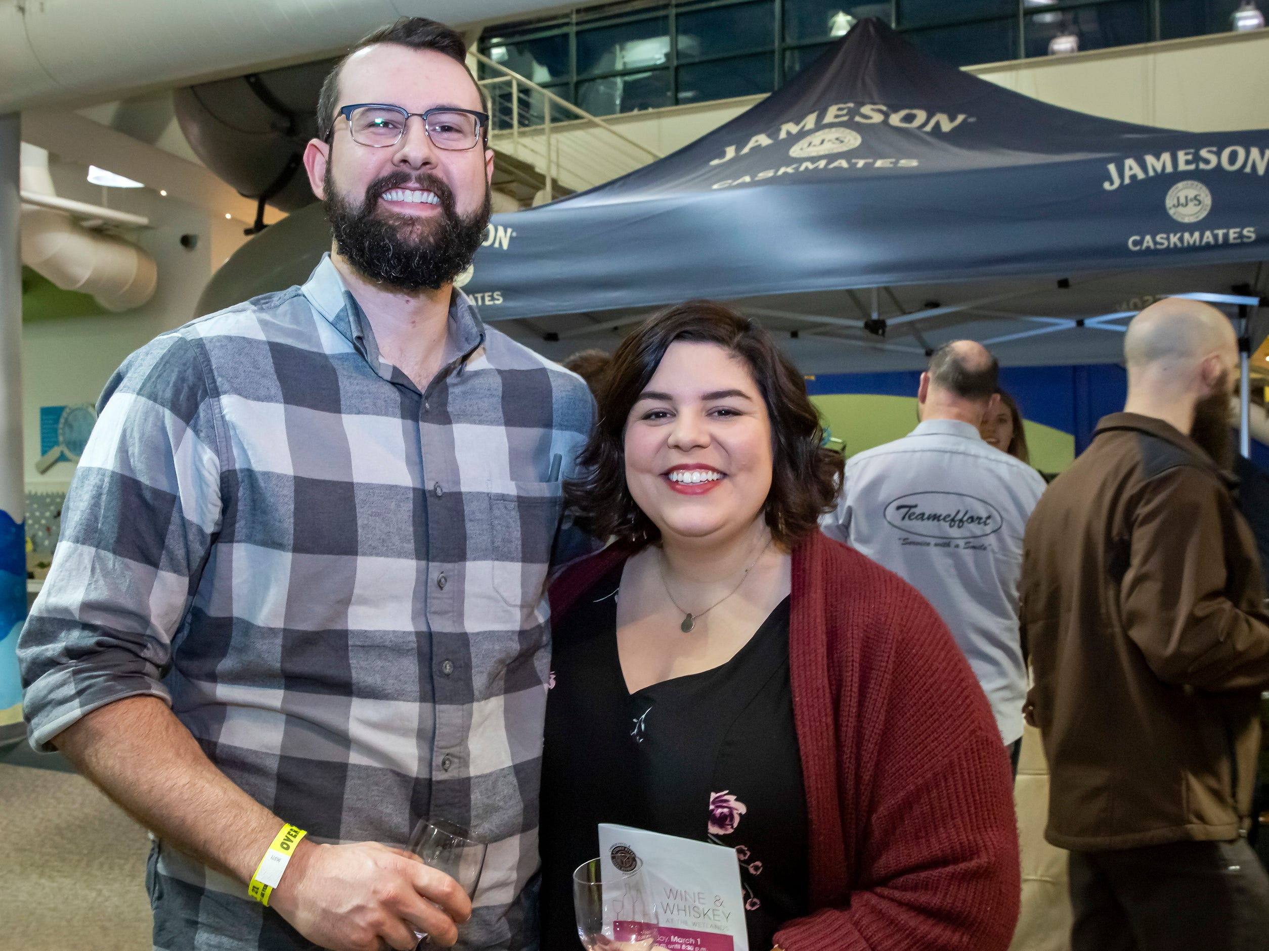 Stuart and Nicole Davis at the 6th annual Wine and Whiskey at the Wetlands event held at the Discovery Center.JIM DAVIS/for the DNJ
