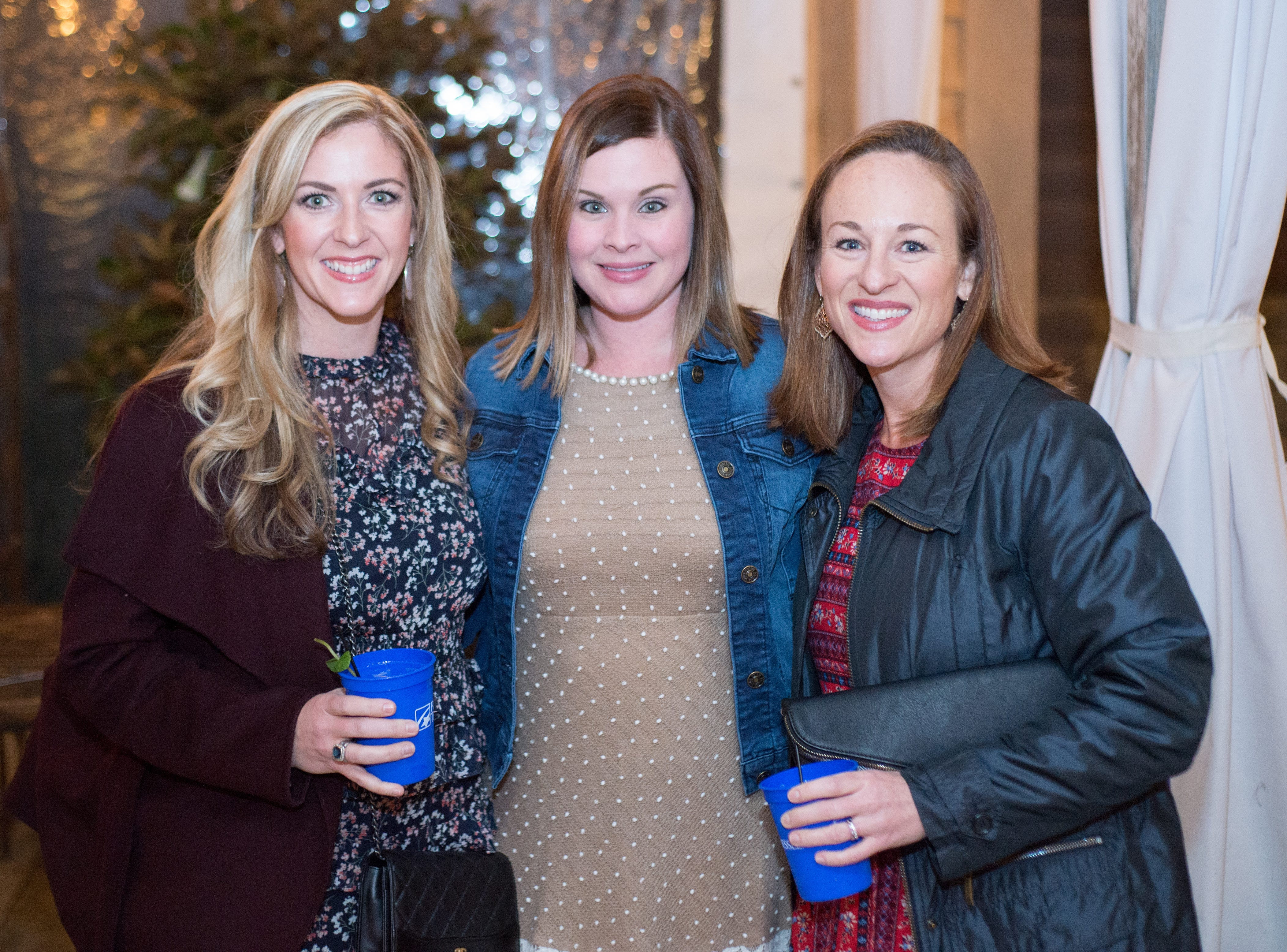 Susannah Wood, Jenny Slate Lee and Katherine Louw enjoy United Way of Sumner County's Bloomin' Bash Gala and Auction at Long Hollow Gardens in Gallatin on Friday, March 1.