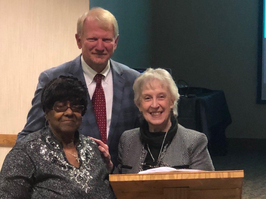 Lucille Holt-Vaughn Robert Blue Legacy Award winner with Ted Williams and Martha Gerdeman.
