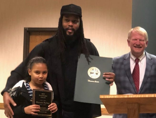 Marcus Talley and daughter-Trailblazer Award