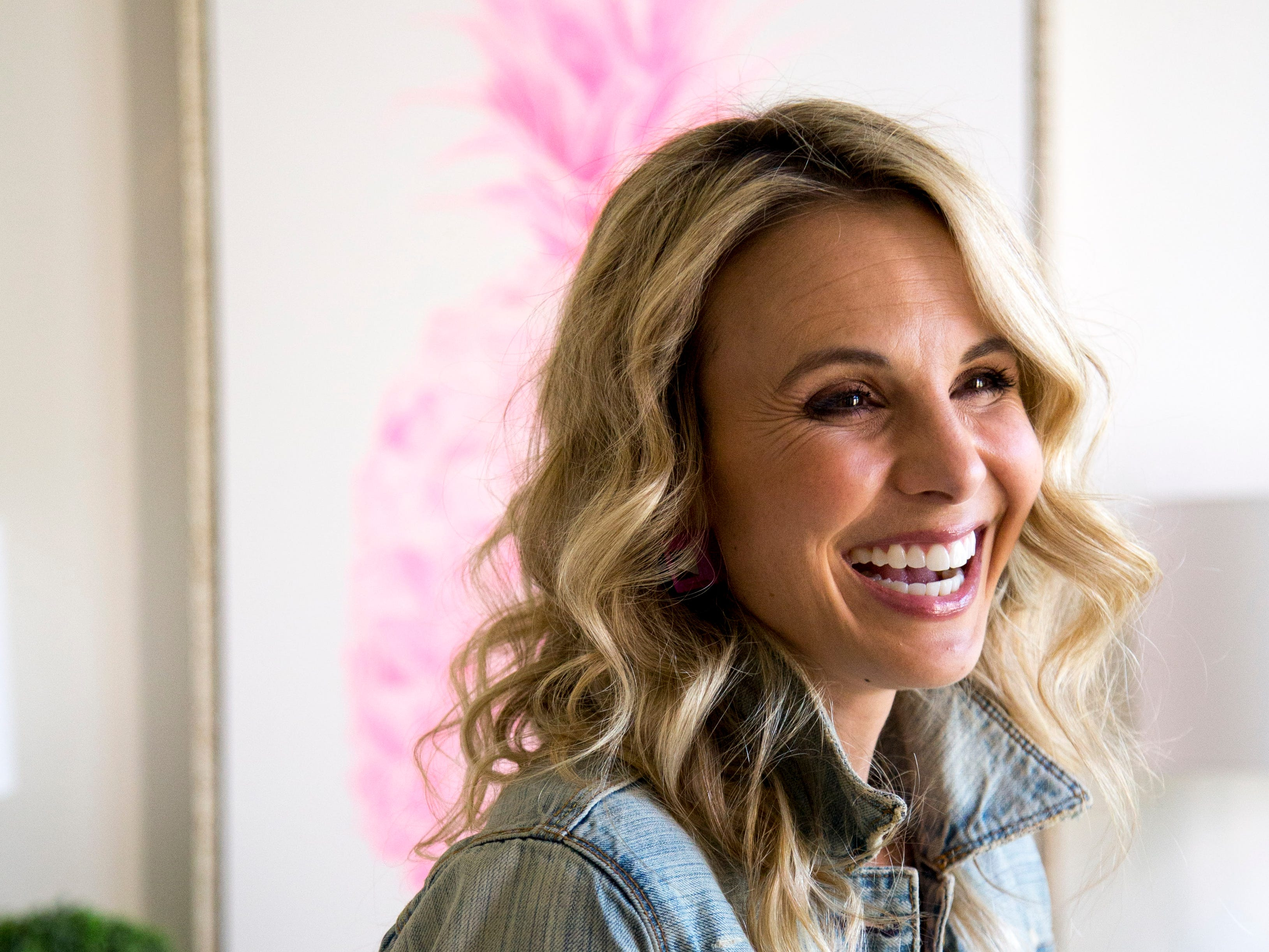Elisabeth Hasselbeck poses for a picture  at the Hasselbecks' home, in Nashville, Tenn., on Monday, March 4, 2019.