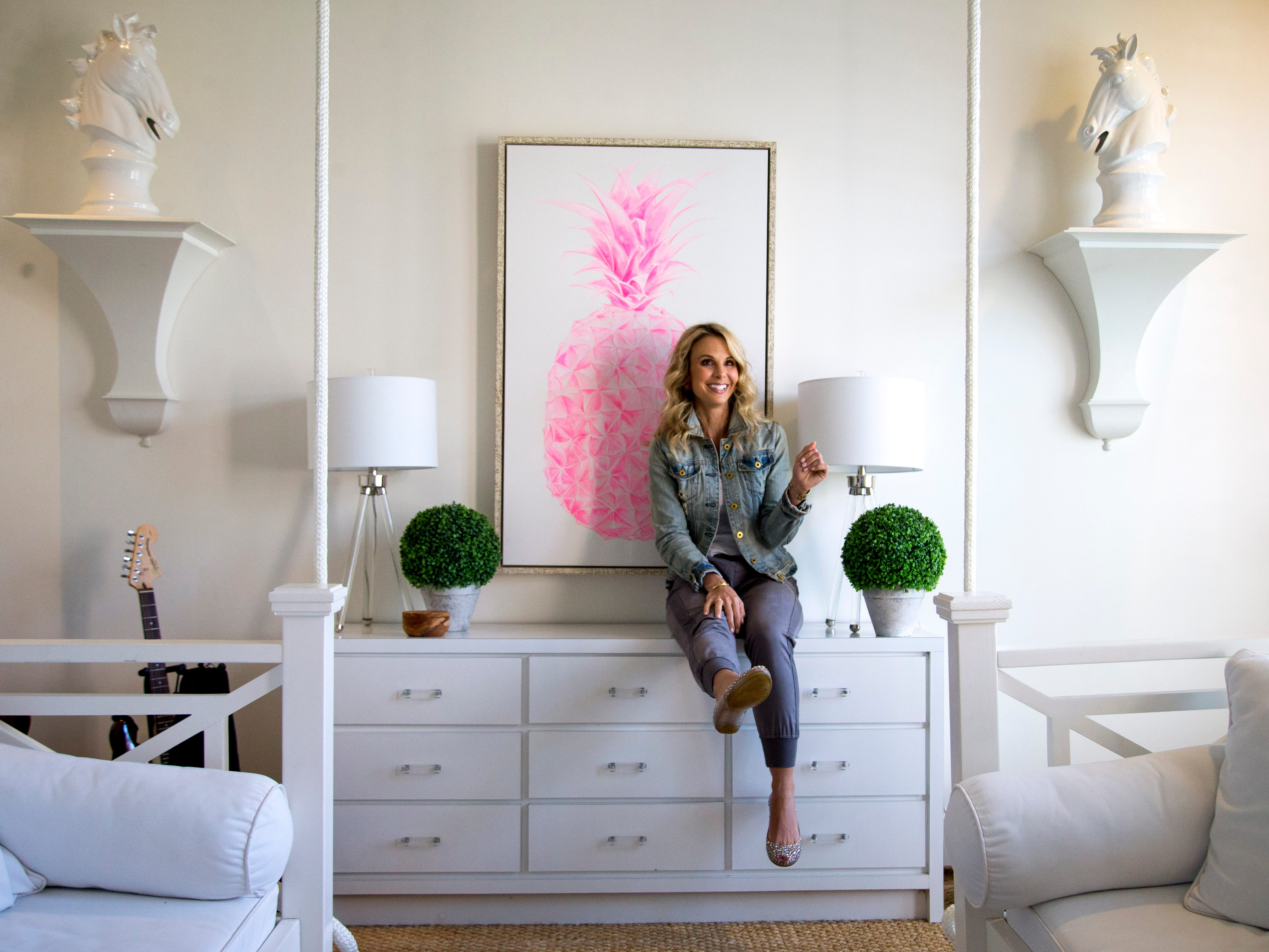 Elisabeth Hasselbeck sits down with a reporter from The Tennessean to talk about her move to Nashville and new book at the Hasselbeck's home, in Nashville, Tenn., on Monday, March 4, 2019.