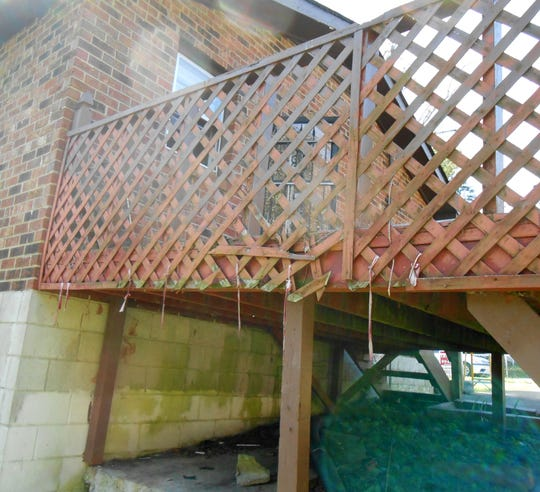 """Mark Nickell's deck on his Greenbrier home was """"dated and dangerous"""" before he renovated it."""