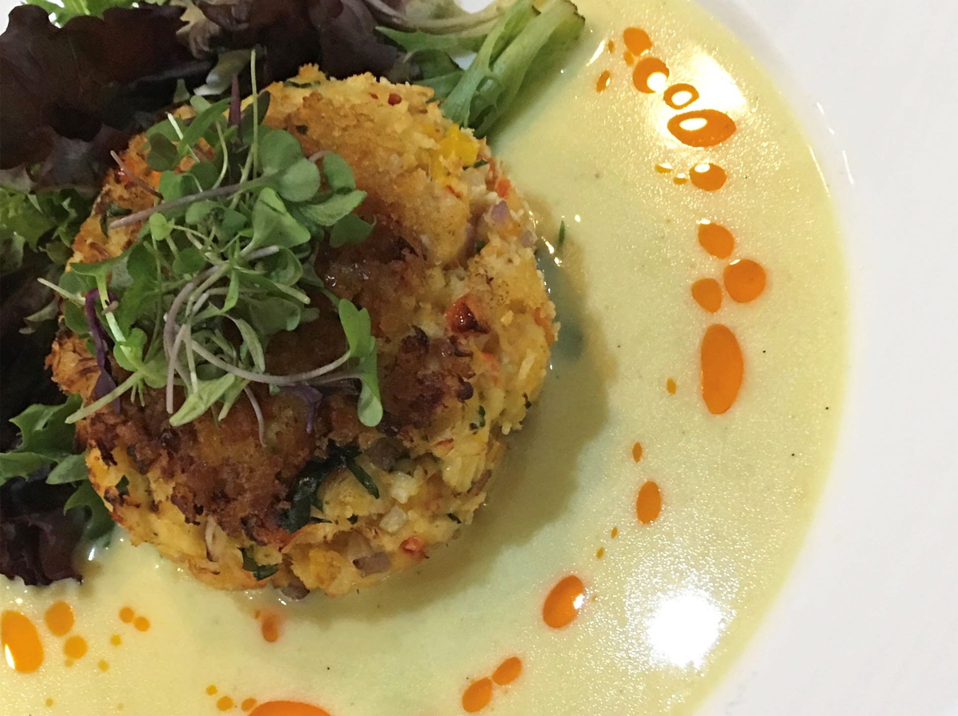 Lobster crab cake at the new Crooked Shillelagh Celtic Kitchen + Drinkery, 3340 U.S. 41 E., in East Naples.