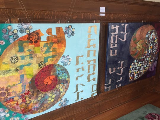This two-piece work is by Granville's Christine Munhall.