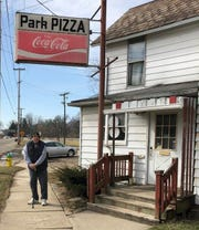 Former Newark resident Paul Hill, and his wife Kathie, drove 300 miles on Wednesday to enjoy Park Pizza one last time before it closed.