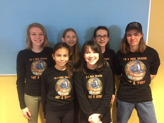 Granville students Kate Miller, Hannah Bishop, Isabella Busack, Coach Becky Miller, Tessa Quijano and Audrey Stankunas will travel to Mexico soon to teach robotics courses.