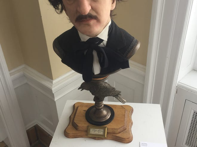 "This Edgar Alan Poe-centric work, ""Once Upon A Midnight Dreary,"" by Newark artist Tom Kuebler is among the works on display at Bryn Du for the next several weeks."