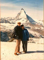 Michael Ferrara with his wife, Grace, in 1989.