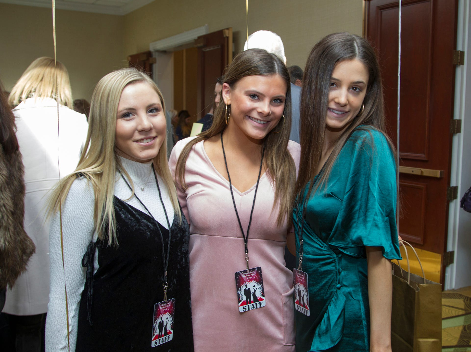 Jackie Schmidt, Ellie Schultz, Vanessa D'Angelo. Ridgewood High School seniors held their Project Graduation fashion show at the Teaneck Marriott at Glenpointe. Students walked the runway in this season's latest fashion trends. All funds raised benefited the school's Project Graduation Fund for the class of 2019. 03/03/2019