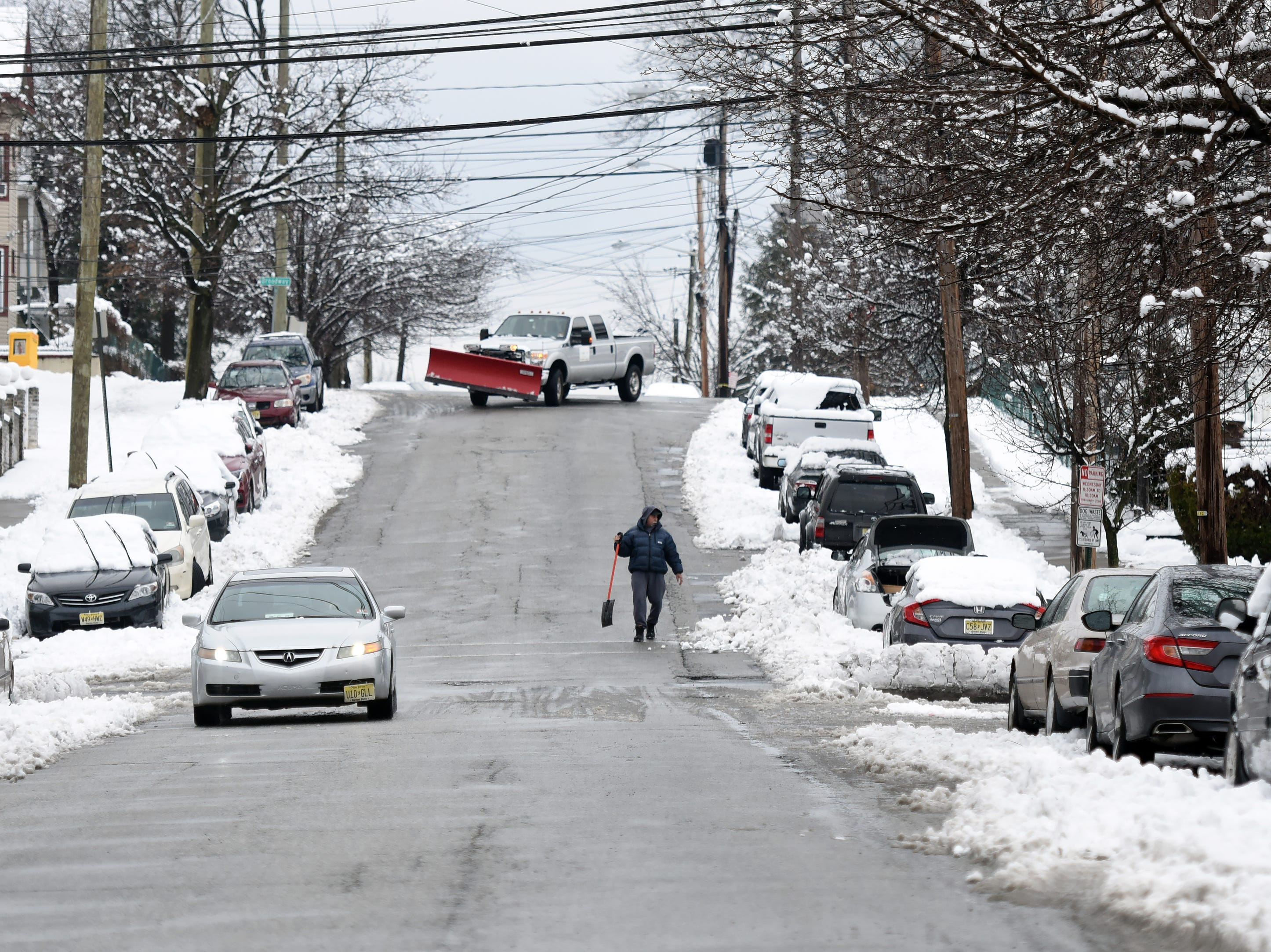 Boulevard in Passaic is clear of snow on Monday, March 4, 2019.