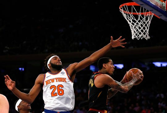 New York Knicks rookie center Mitchell Robinson finished the regular season with 2.44 blocks per game, good for second in the NBA.