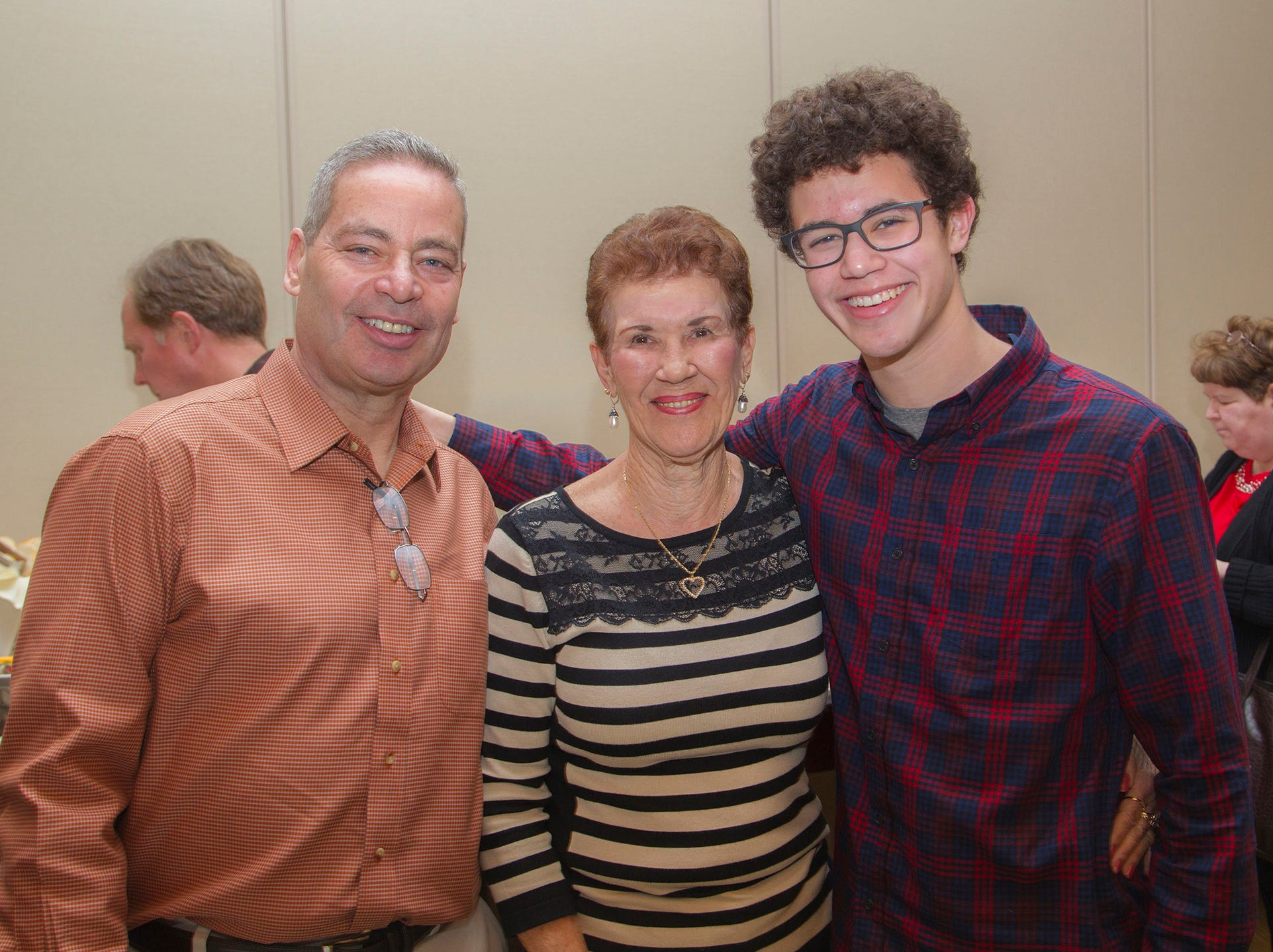 Steve Sarfaty, Carol Cautillo, Michael.  Ridgewood High School seniors held their Project Graduation fashion show at the Teaneck Marriott at Glenpointe. Students walked the runway in this season's latest fashion trends. All funds raised benefited the school's Project Graduation Fund for the class of 2019. 03/03/2019