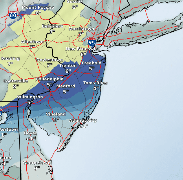 NJ weather: Snow blanketing New Jersey