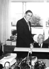 Michael Ferrara with U.S. President Harry S. Truman in 1960.