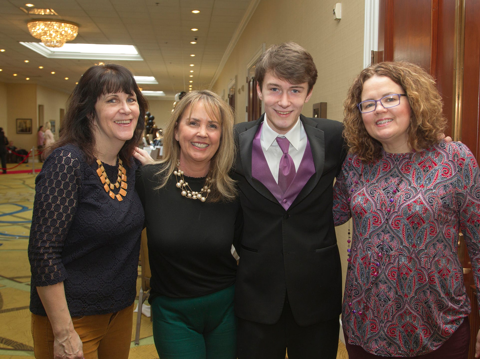 Caroline, Jane, Michael, Brenda. Ridgewood High School seniors held their Project Graduation fashion show at the Teaneck Marriott at Glenpointe. Students walked the runway in this season's latest fashion trends. All funds raised benefited the school's Project Graduation Fund for the class of 2019. 03/03/2019