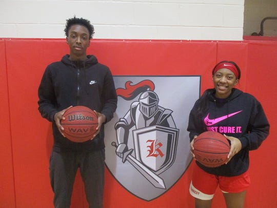 Brother and sister, Avante and Taniesha Gilbert, were leading scorers for Paterson's John F. Kennedy High School's varsity boys and girls basketball teams this season