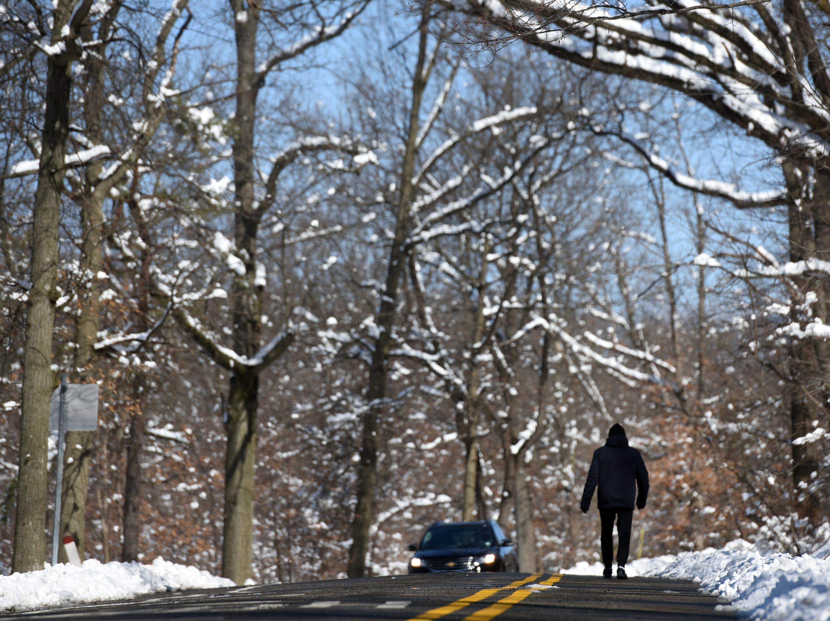 Marek Kubinski of Passaic Park, got in his daily walk at Garret Mountain Reservation on Monday, March 4, 2019. Kubinski walks daily regardless of the weather.