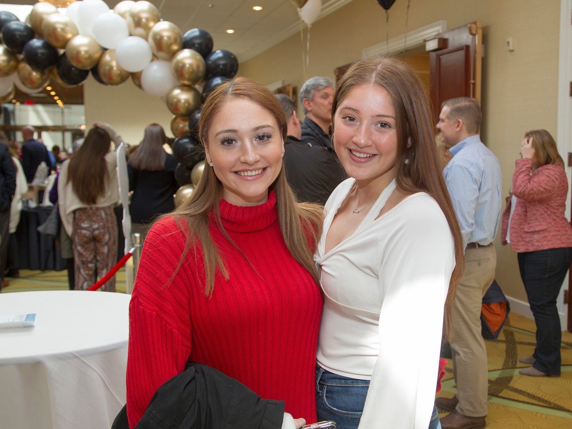 Brianna and Meadow Paliotte. Ridgewood High School seniors held their Project Graduation fashion show at the Teaneck Marriott at Glenpointe. Students walked the runway in this season's latest fashion trends. All funds raised benefited the school's Project Graduation Fund for the class of 2019. 03/03/2019