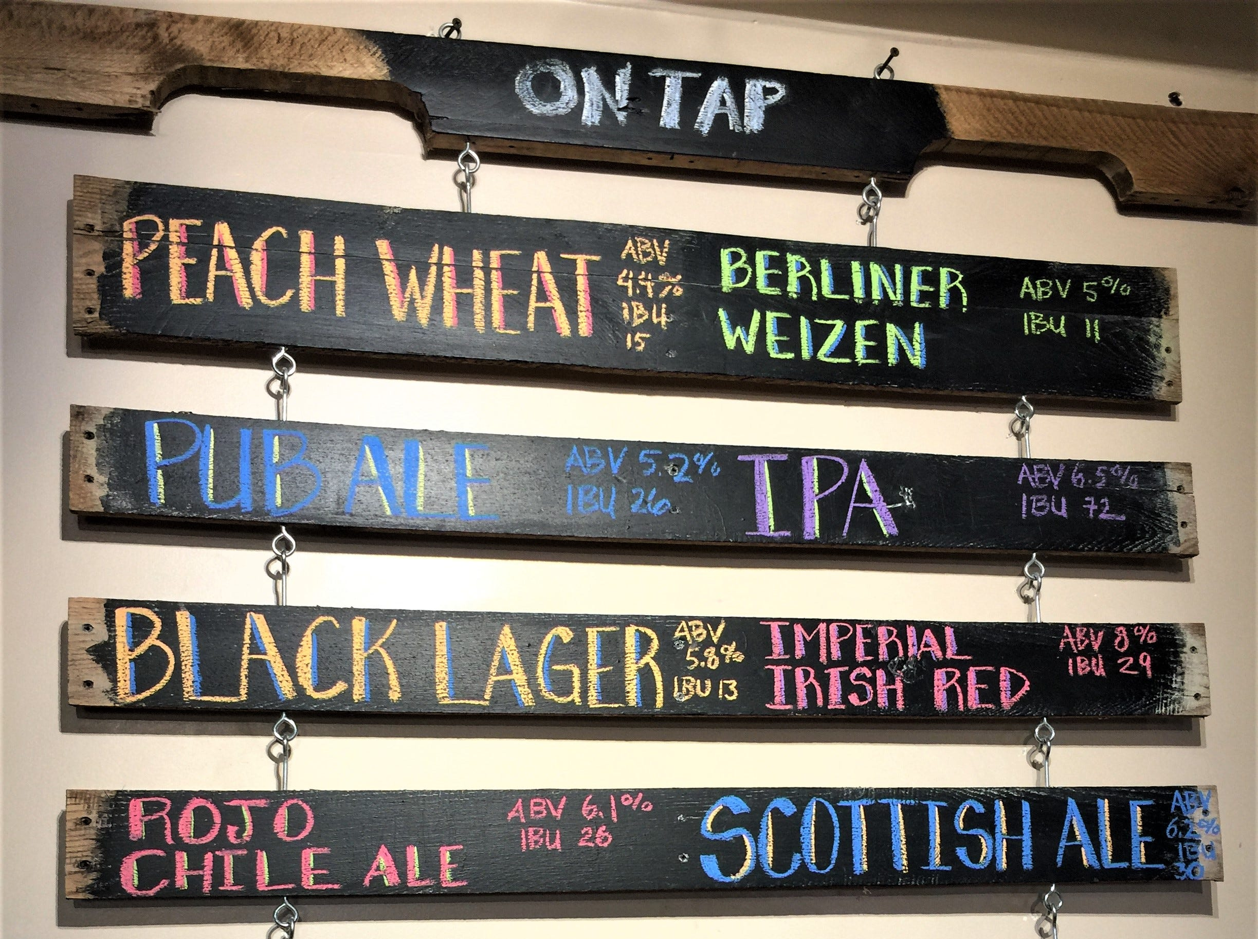 High Desert Brewing Co. serves 27 different beers including fan favorites Peach Wheat, a Berliner Weizen, Rojo Chile Ale, a Scottish Ale and Oktoberfest, a barley wine.