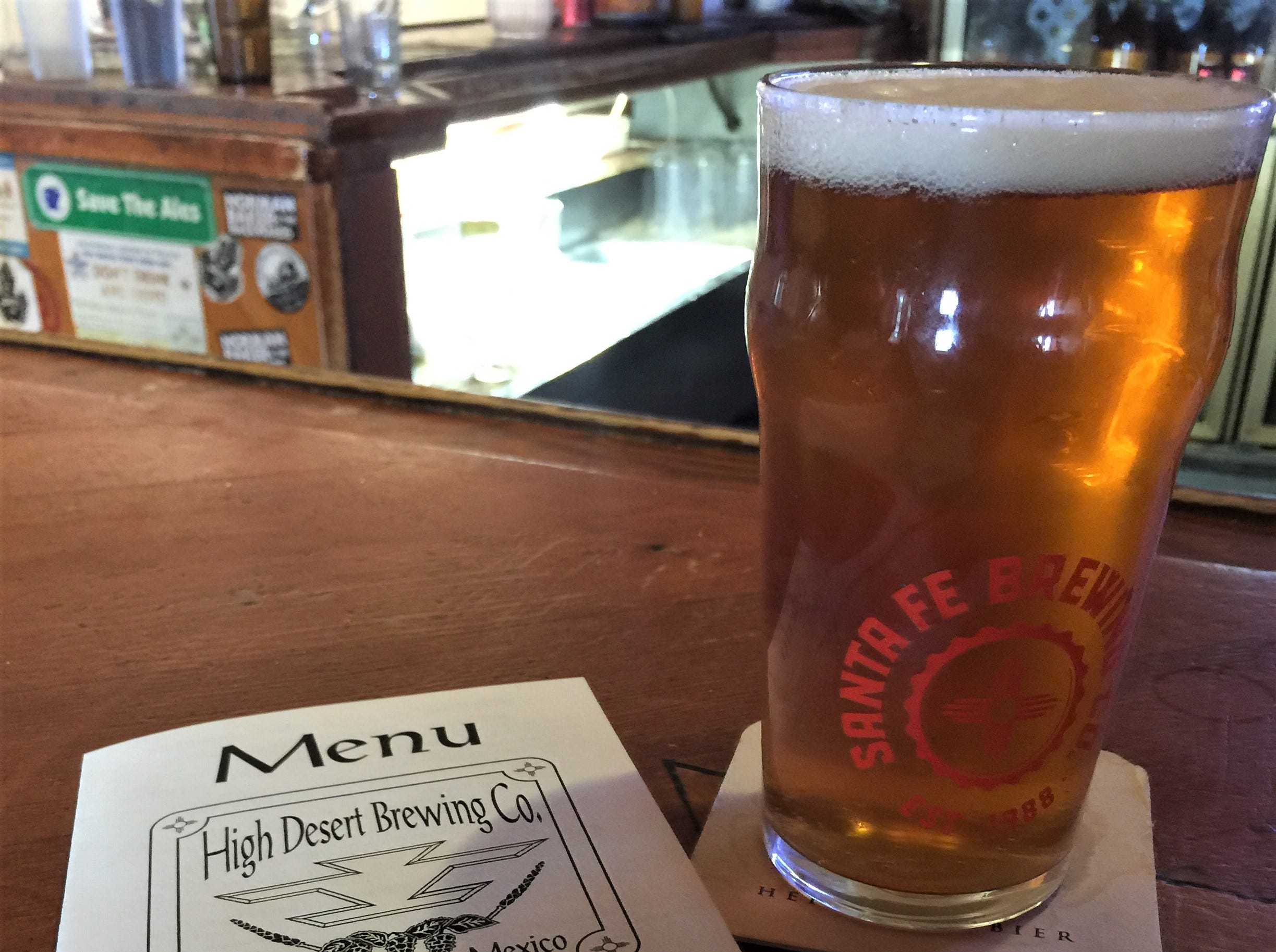 High Desert Brewing Co. offers a full menu which includes everything from burgers, green chile stew, quesadillas and award winning nachos!