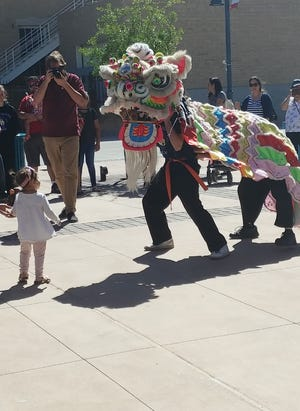 New Mexico State University students perform the traditional Dragon Dance at the 2018 International Festival, sponsored by the Office of International and Border Programs at NMSU. The IBP Office will host the 2019 festival on March 16 at the Plaza de Las Cruces, 100 Main Street.