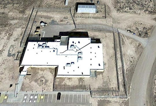 Photo shows an aerial view of the Lincoln County Detention Center .