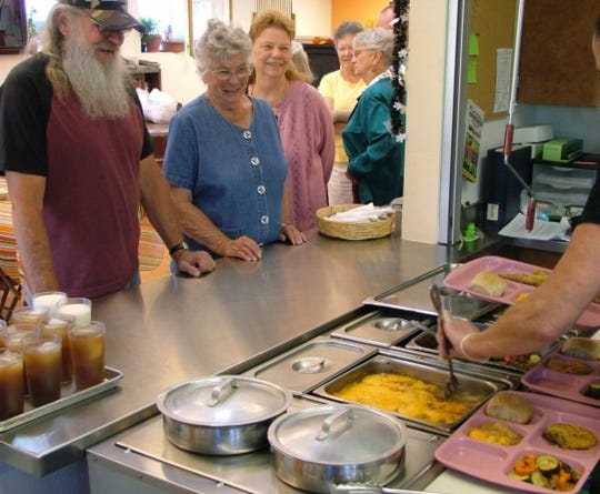 Lunch time at one of Lincoln County's Zia Senior Centers.