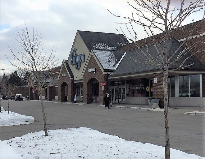 A fire at the Plymouth Township Kroger forced an evacuation Sunday morning.