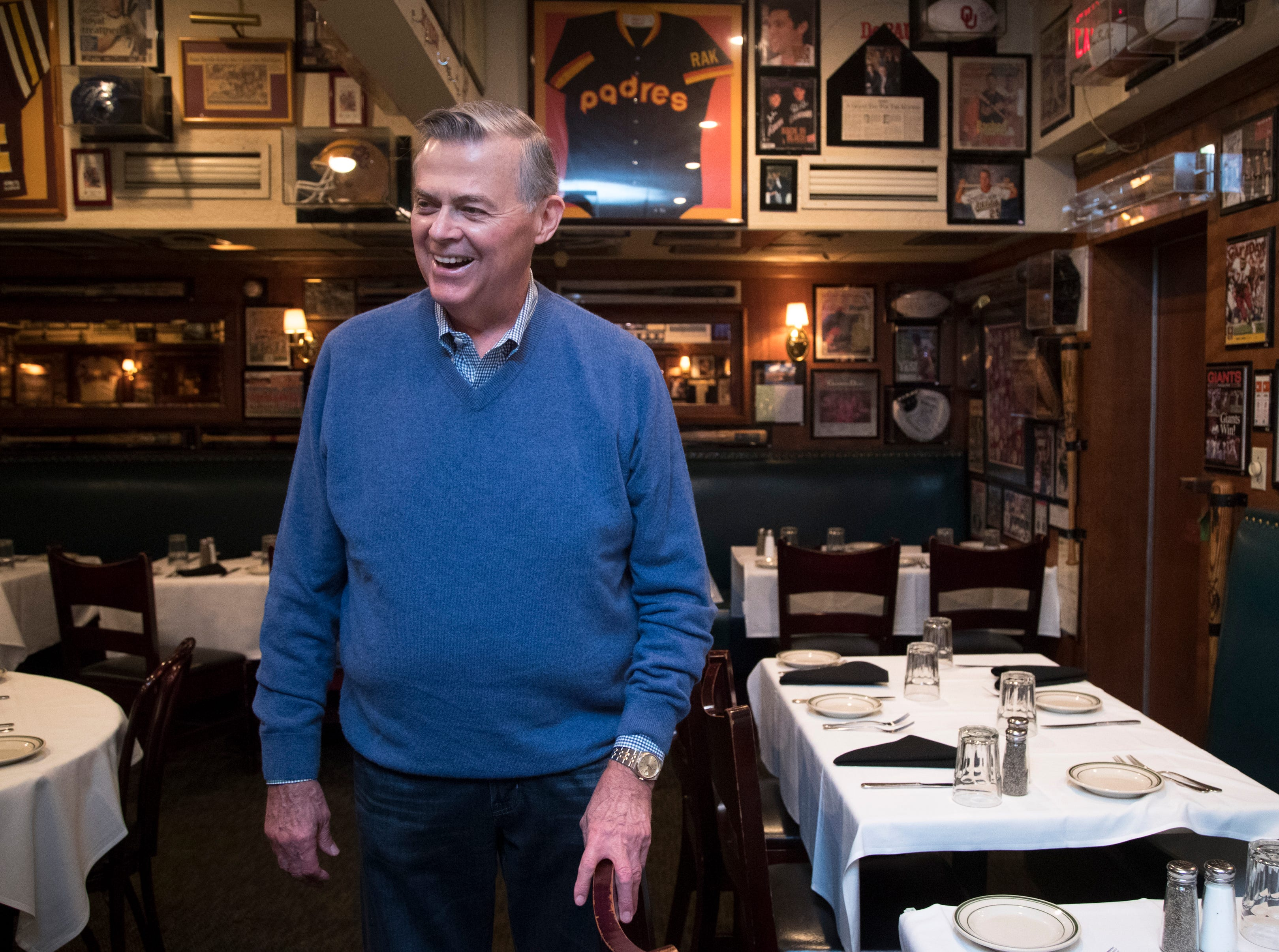 Don Carson reminisces Feb. 27, 2019, at Don & Charlie's, 7501 E. Camelback Road, Scottsdale.