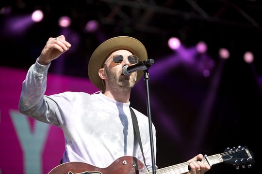 Mat Kearney and his band perform during the Innings Festival on March 3, 2019, at Tempe Beach Park.