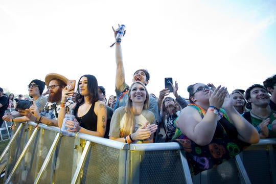 Fans cheer as Shakey Graves perform during the Innings Festival on March 3, 2019, at Tempe Beach Park.