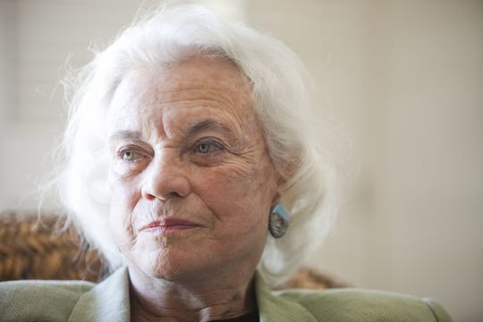 Former United States Supreme Court Associate Justice Sandra Day O'Connor answers questions during an interview at her house in Paradise Valley on May 4, 2009.
