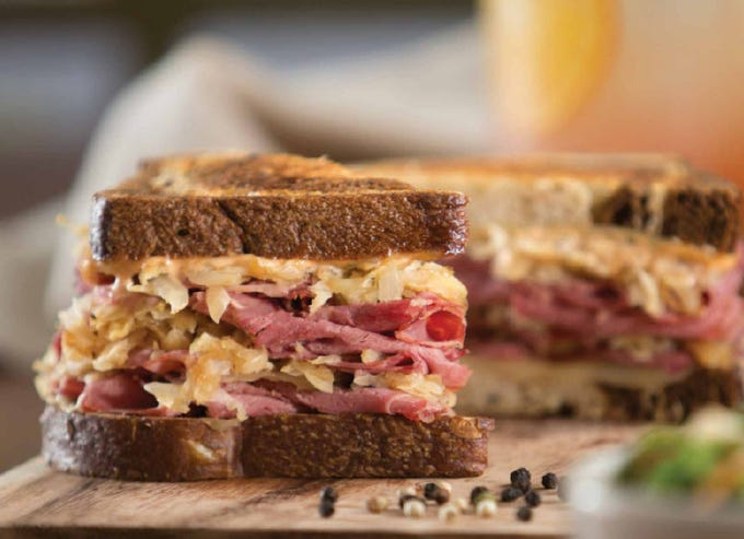 WILDFLOWER BREAD CO.: From March 13-17, special menu items include traditional soda bread ($6-$7) that can be pre-ordered or purchased in stores and the Wildflower Rueben sandwich ($9.99) made with corned beef brisket, caramelized onion sauerkraut, Swiss, and thousand island dressing on grilled marble rye. DETAILS: 1380 N. Litchfield Road, Goodyear. 623-935-1131. Also, 75 E. Rivulon Blvd., Gilbert. 480-454-5602. Other locations at wildflowerbread.com.