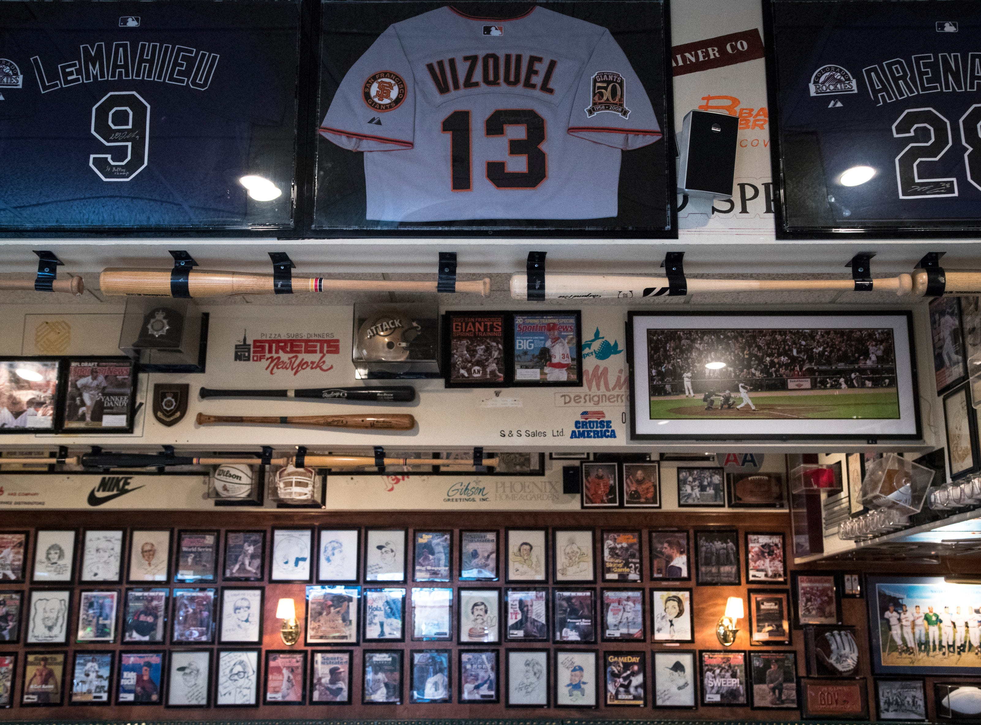 Memorabilia hangs on the walls Feb. 27, 2019, at Don & Charlie's, 7501 E. Camelback Road, Scottsdale.