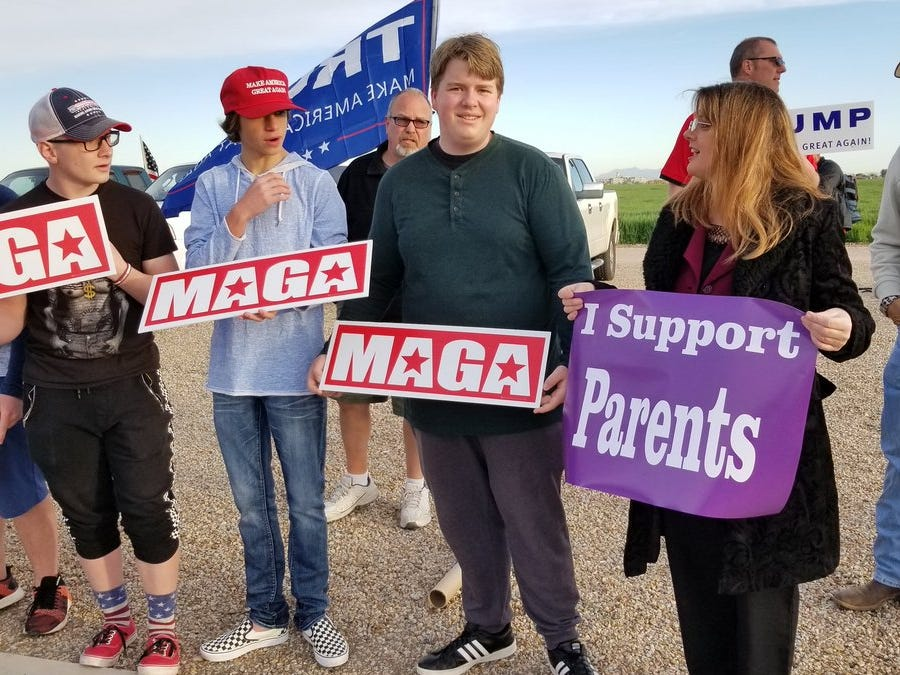 Rep. Kelly Townsend, R- Mesa, was at Perry High School supporting students on March 5, 2019. She is calling on the principal and vice principal to apologize to students and lift student punishment.