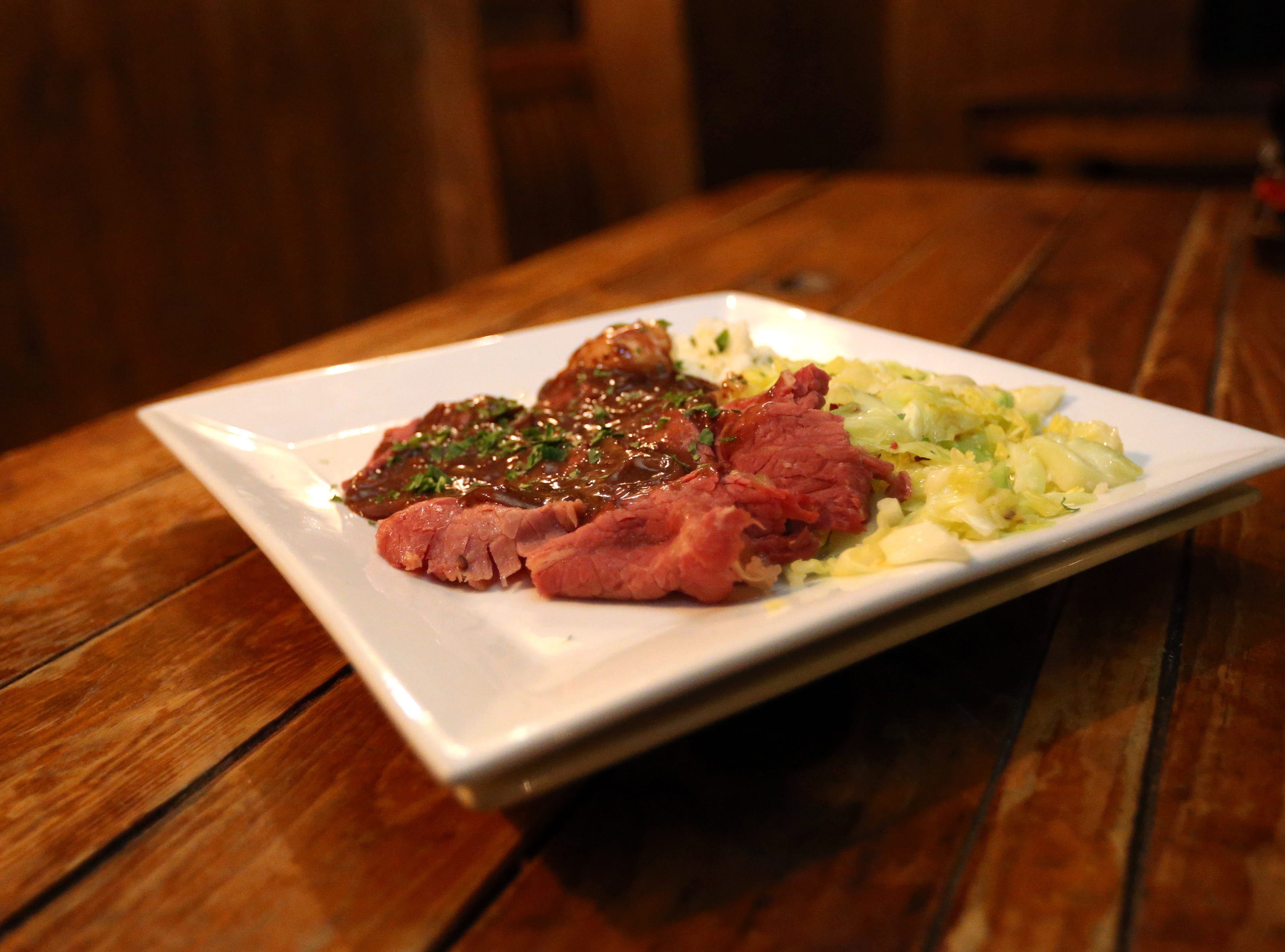 SKEPTICAL CHYMIST: Start with an authentic Irish breakfast ($14.49) served 8-9:45 a.m. After that, all day specials include lamb shepherd's pie ($11), bangers and mash ($10), and corned beef and cabbage ($11). Cover charge of $10 after 11 a.m. DETAILS: 15689 N. Hayden Road, Scottsdale. 480-609-8677, skepticalchymist.com.