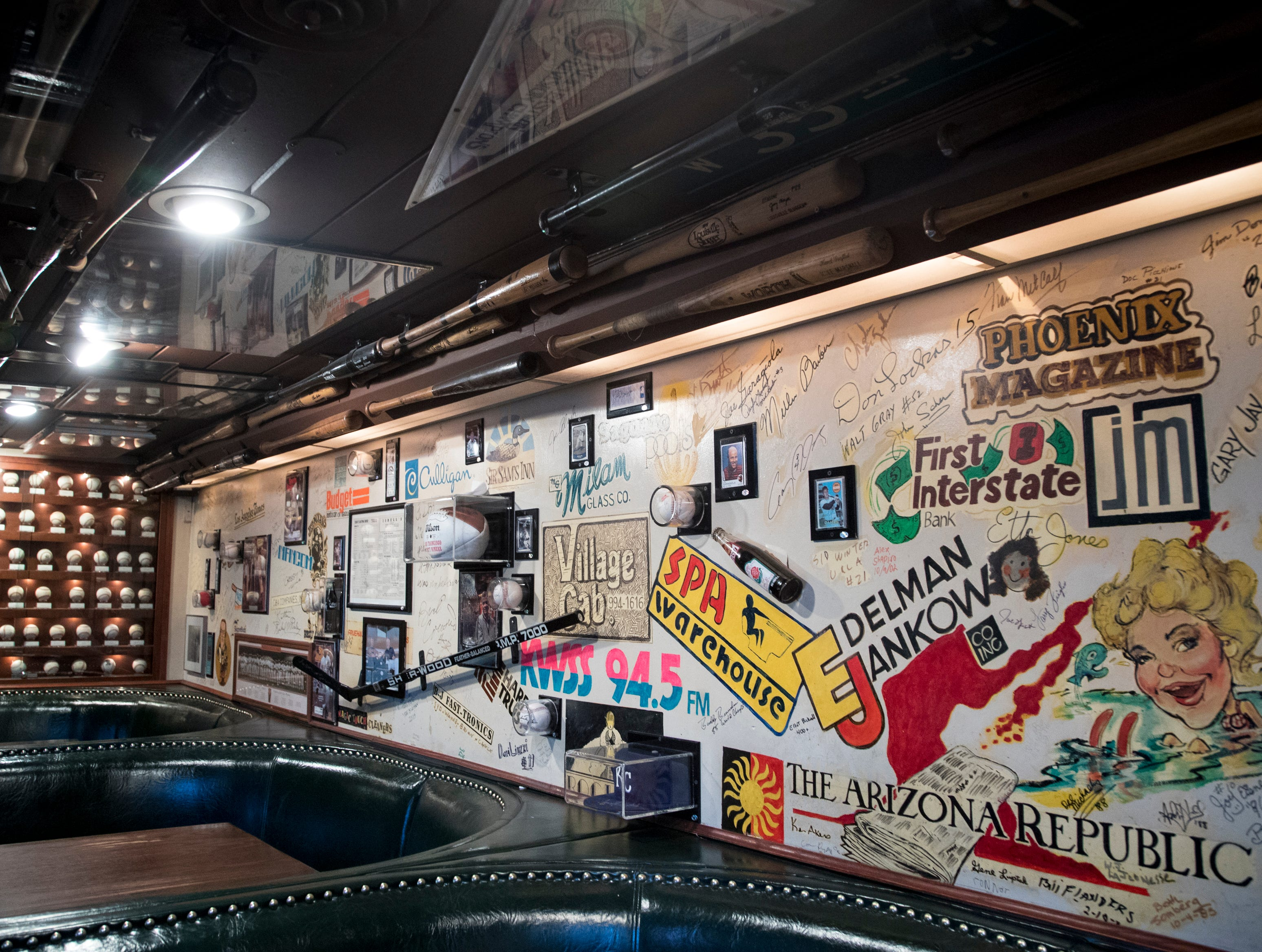 Memorabilia hangs on the walls and ceiling Feb. 27, 2019, at Don & Charlie's, 7501 E. Camelback Road, Scottsdale.
