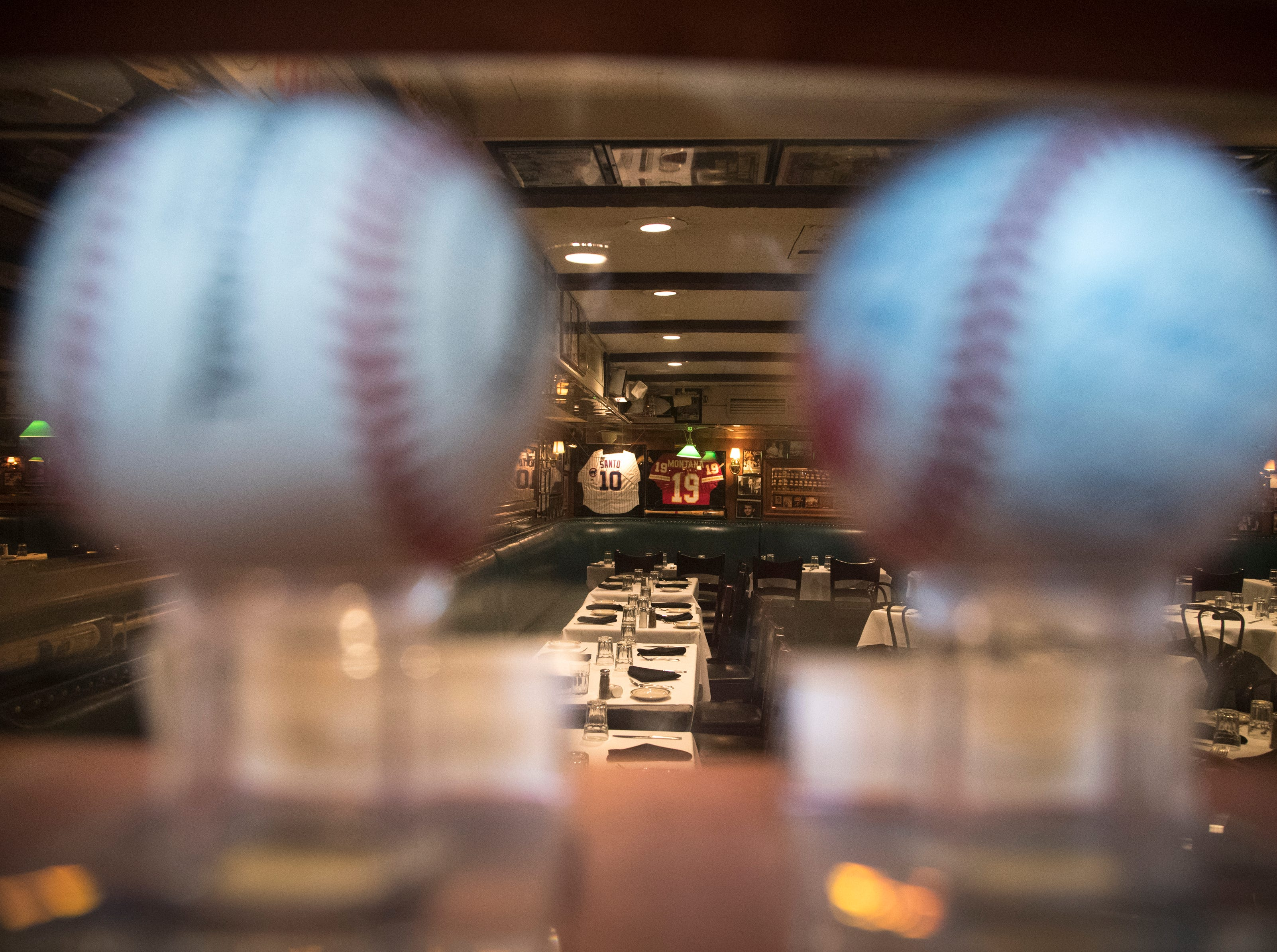 Baseballs and memorabilia are seen Feb. 27, 2019, at Don & Charlie's, 7501 E. Camelback Road, Scottsdale.