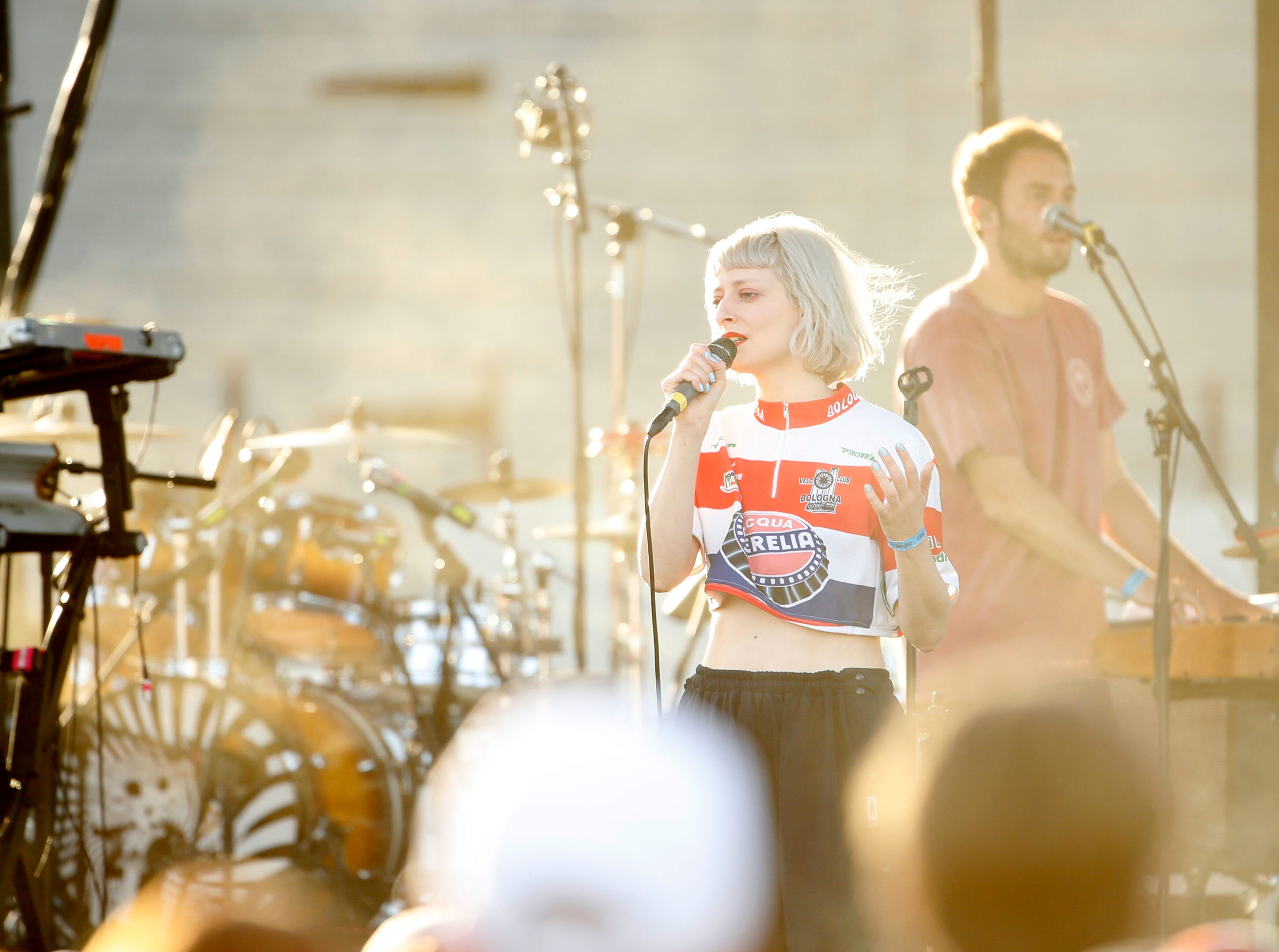 Maribou State perform during McDowell Mountain Music Festival in Phoenix on March 3, 2019.