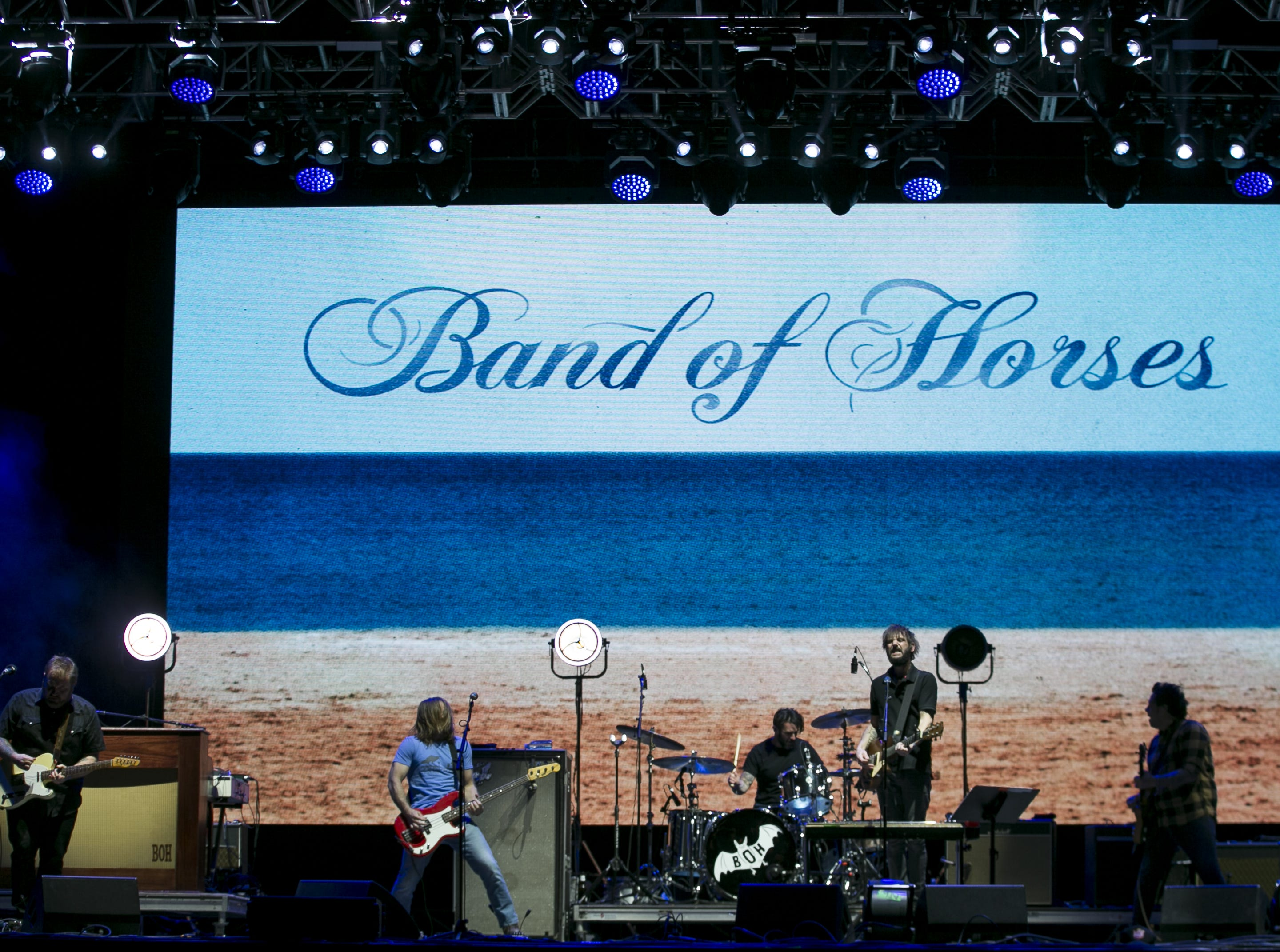 Band of Horses perform at the Innings Festival at Tempe Beach Park on March 3, 2019.