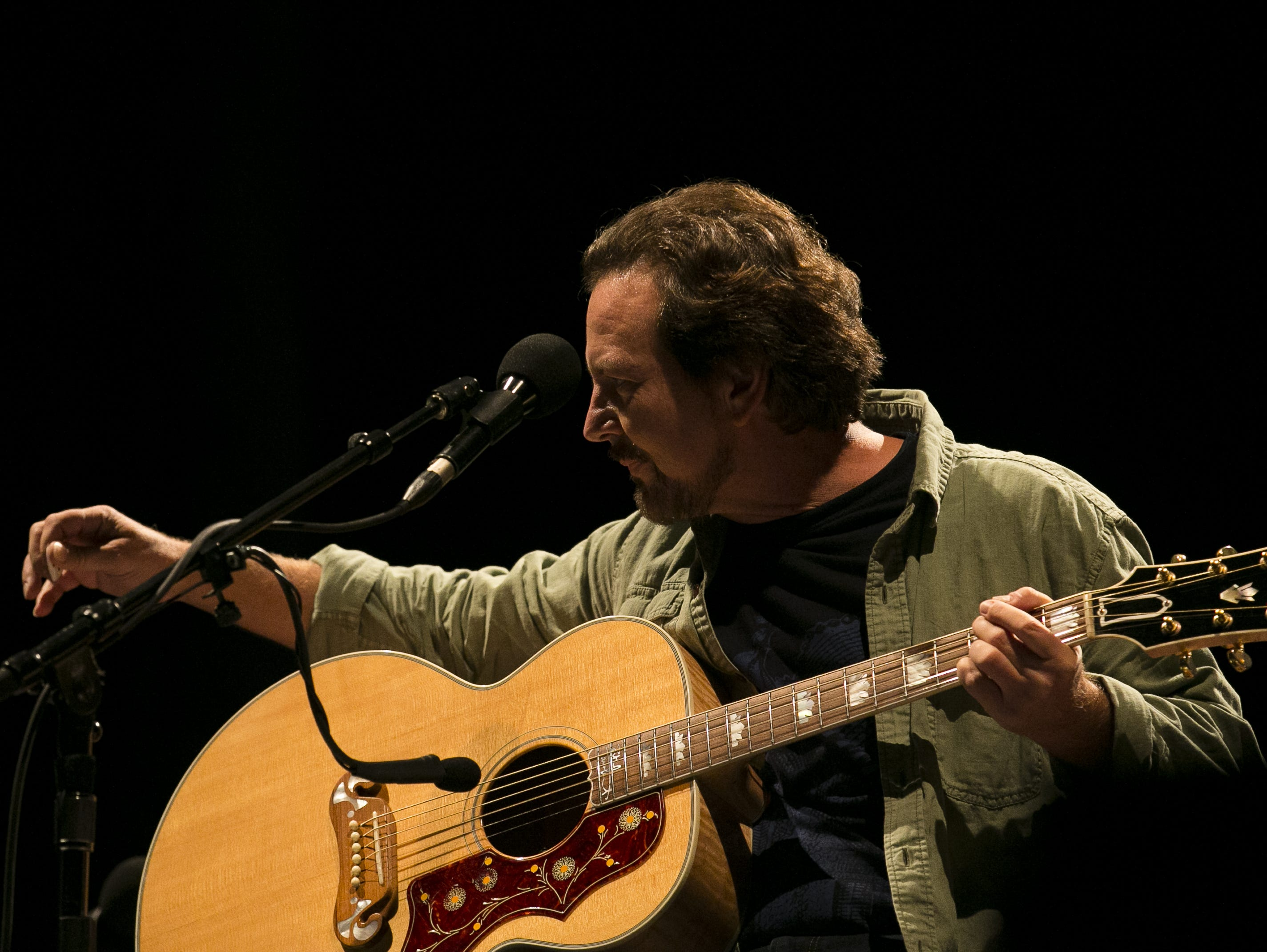 Eddie Vedder performs at the Innings Festival at Tempe Beach Park on March 3, 2019.