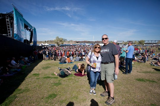 Fans enjoy beautiful spring weather at the Innings Festival on March 3, 2019, at Tempe Beach Park.