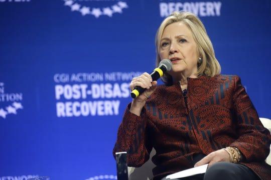 La exsecretaria de Estado estadounidense, Hillary Clinton, habla durante la última jornada de la reunión de la Iniciativa Global Clinton (CGI, en inglés) en P.R.