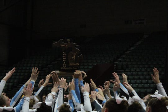 Richmond High School won its first cheer title since 2013.