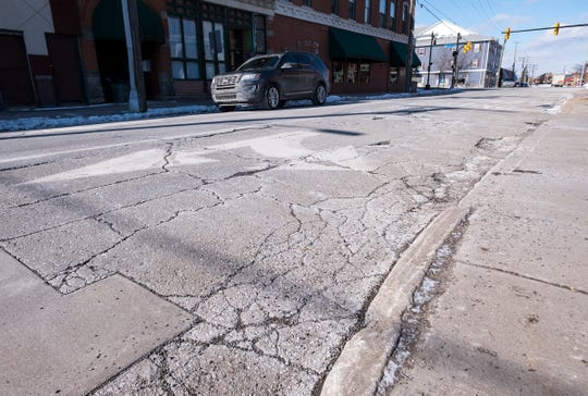Quay Street, near the intersection of Michigan Street, is listed as one of the worst roads in Port Huron. The intersection will be reconstructed later this year as part of a multiphase project.