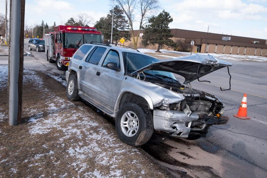 Crews are responding to a multiple vehicle collision on 24th Street near Petit Street Monday, March 4, 2019 in Port Huron.